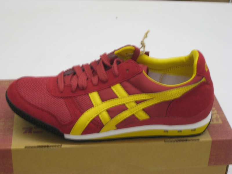 TIGER onitsuka asics ultimate 81 Sneakers rosso giallo MESSICO hn201 1804 NUOVO