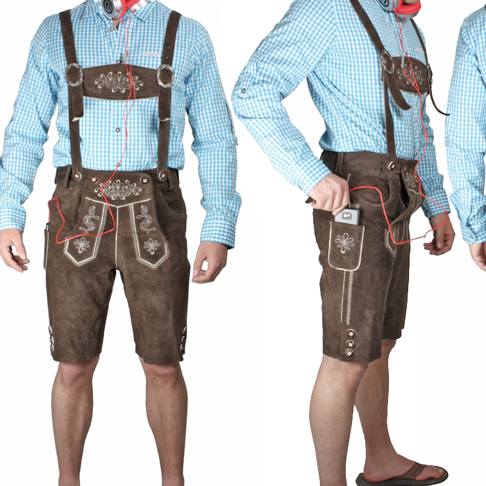 trachten lederhose kurz mid dunkelbraun lederhosen. Black Bedroom Furniture Sets. Home Design Ideas