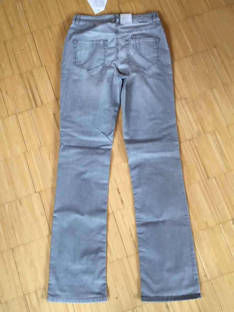 mac jeans melanie spezial damen damenjeans hose grau. Black Bedroom Furniture Sets. Home Design Ideas