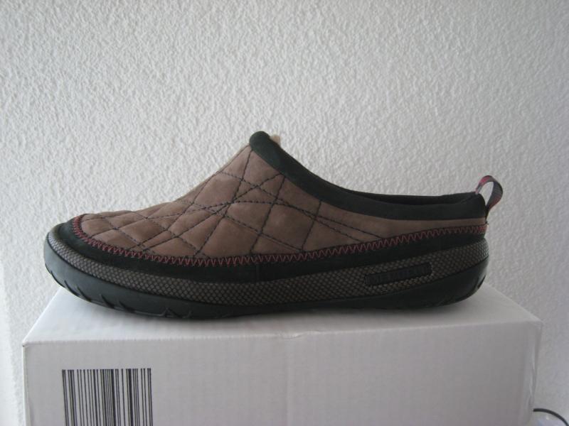 merrell apres sport neve slide j20377 sabots herren leder slipper gr 42 neu ebay. Black Bedroom Furniture Sets. Home Design Ideas