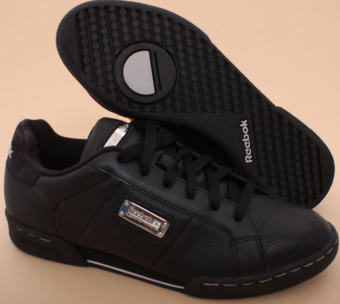reebok classic npc ii gilded schwarz sneaker damen leder. Black Bedroom Furniture Sets. Home Design Ideas