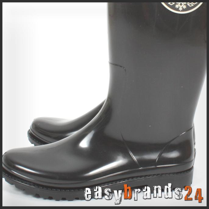 stylische herren gummistiefel regenstiefel boots schwarz. Black Bedroom Furniture Sets. Home Design Ideas