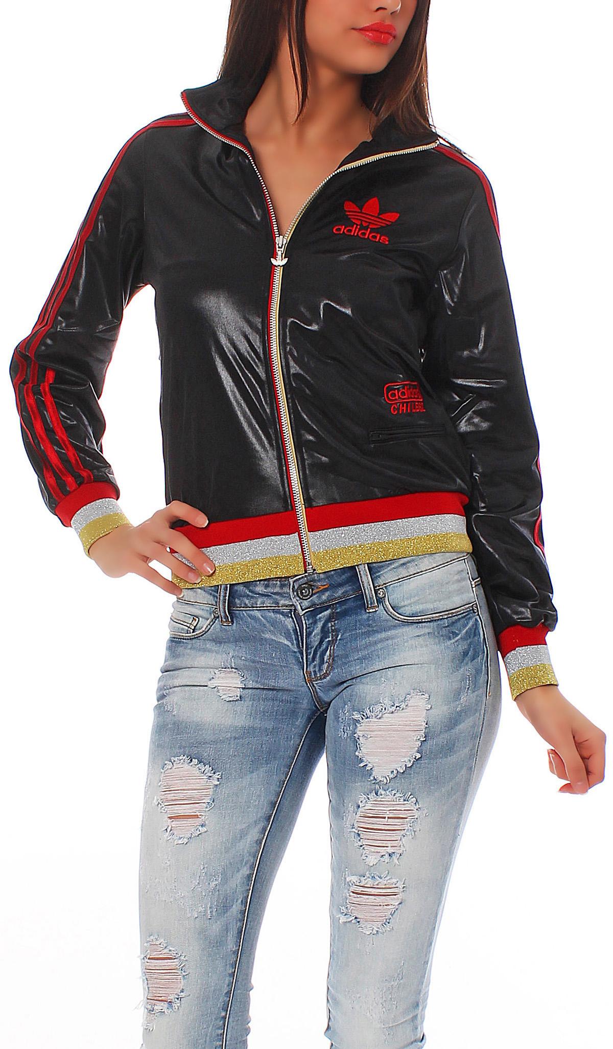 adidas chile 62 rib tt training jacket women 39 s black sweat jacket new. Black Bedroom Furniture Sets. Home Design Ideas