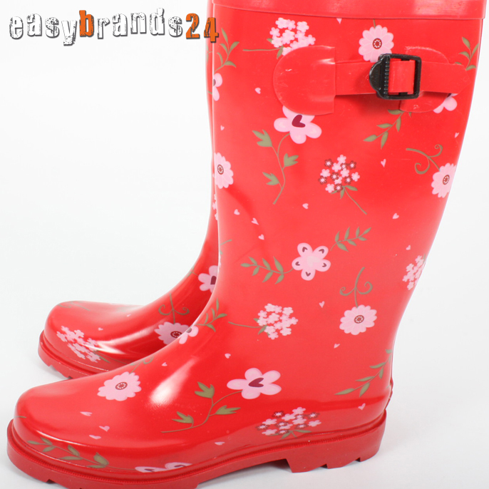gummistiefel stiefel boots regenstiefel damen stylisch 36. Black Bedroom Furniture Sets. Home Design Ideas