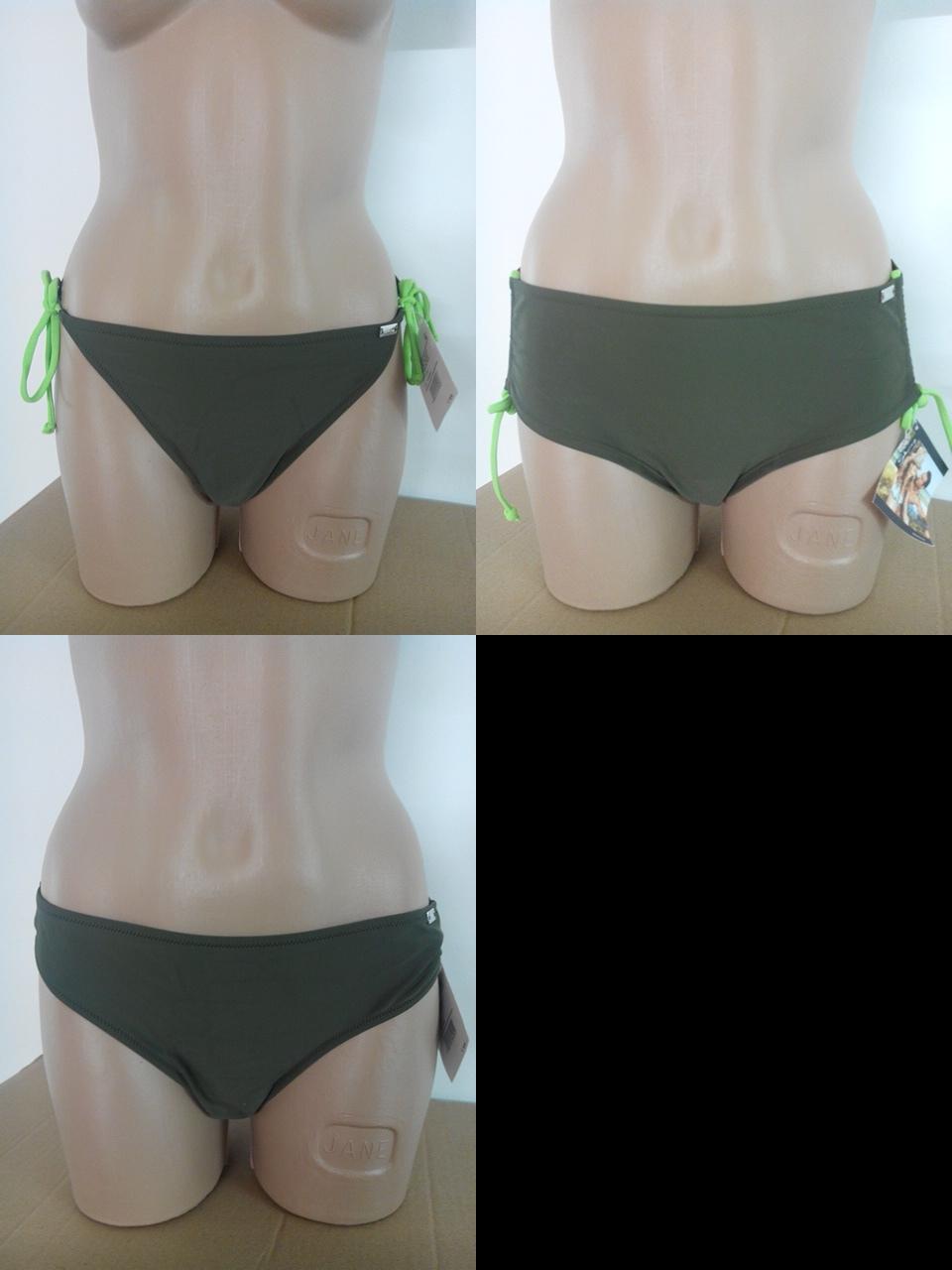 Bikini Panty Slip Cruisy Wrap Skiny schwarz weiß Hose Short 36 38 40 42 44