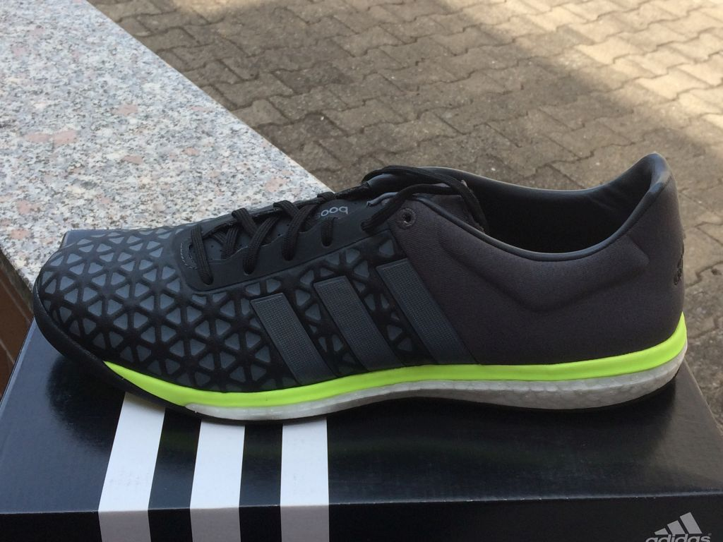Adidas ACE 15.1 Boost Fußball Schuhe Herren Hallenschuhe schwarz-gelb NEU B25550