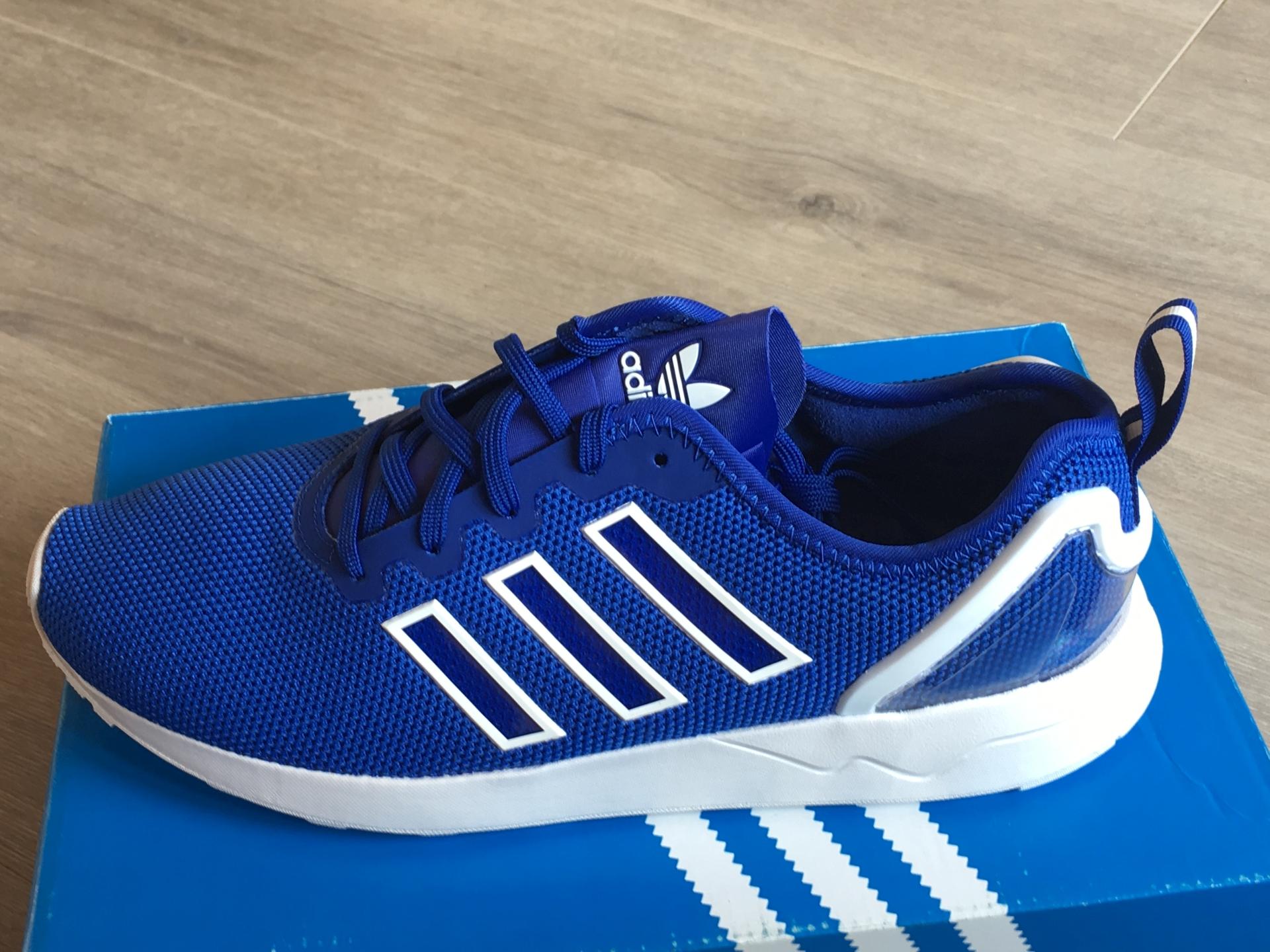 Neue In Herren adidas Originals ZX Flux Sportschuhe Blau