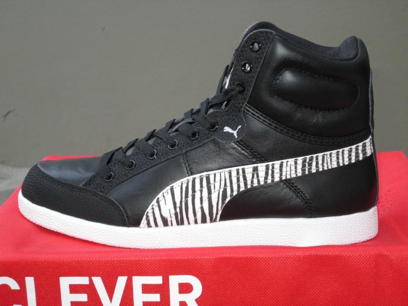 Puma Ikaz Hi Satin Damen Sneaker Stiefel schwarz-weiß Leder 38 - 42 ... 1c517ef5e5