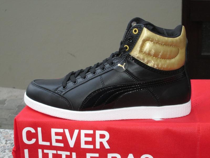 Puma Ikaz Hi Satin Damen Sneaker Stiefel schwarz-gold Leder NEU OVP ... b1fb0cb350