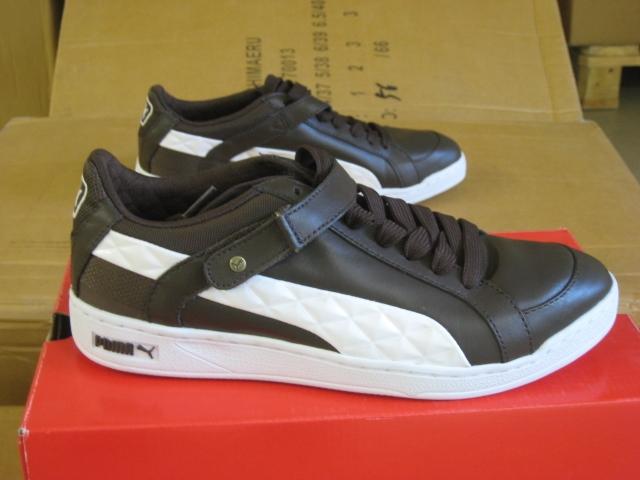 Details zu Puma Schuhe Sneaker Herren braun weiß Herren Leder The Key Lo Quilt 34826101