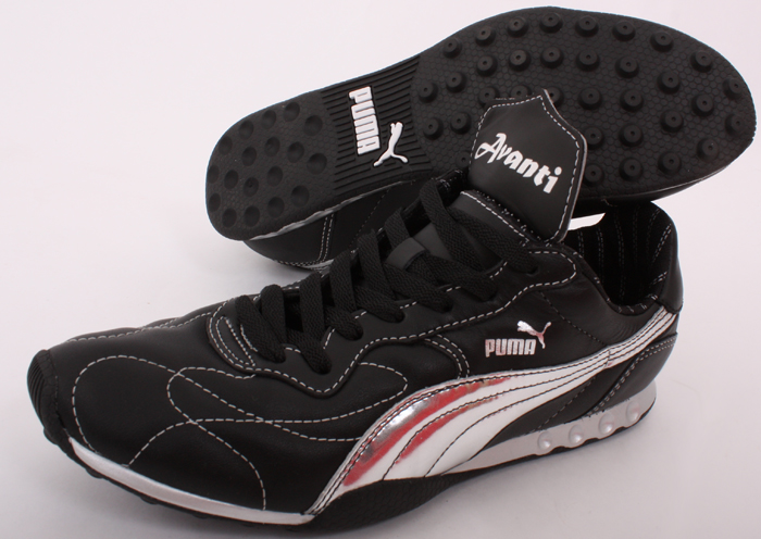 Details zu Puma Forza Avanti schwarz silber Leder Sneaker Herren Multinocken NEU 34959503