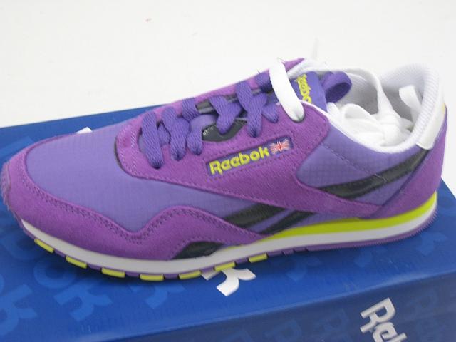 Reebok Classic Damen Nylon lila Slim Leder Damenschuhe Sneaker NEU J85989