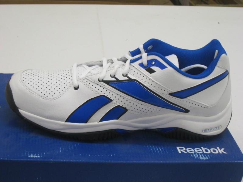 Details about Reebok Victory II Tennis Durafit Hexalite White Blue Men's Sports Shoes J81604