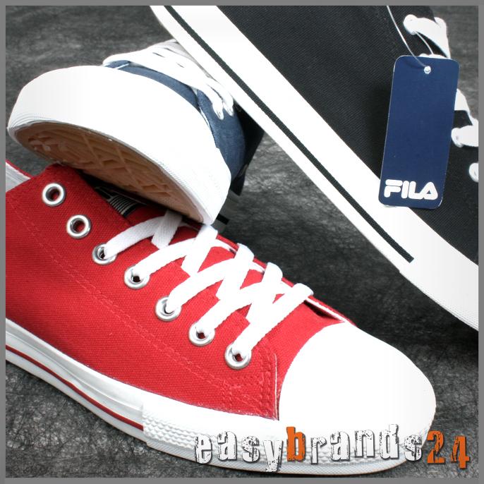 Détails sur FILA Chaussures Homme Femme Baskets Noir Bleu 44,5 Textile Toile